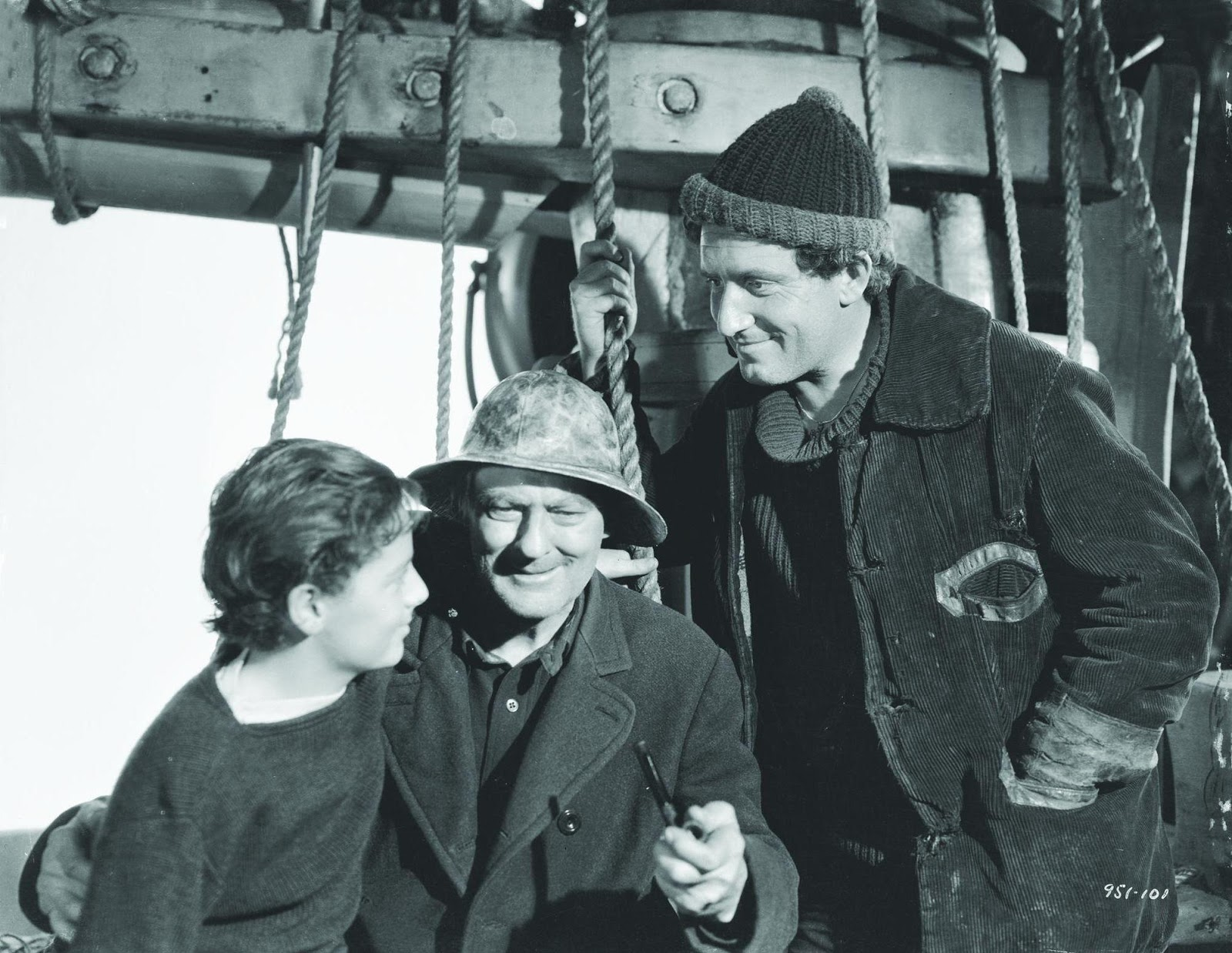 Image result for freddie bartholomew and lionel barrymore striking him in captains courageous