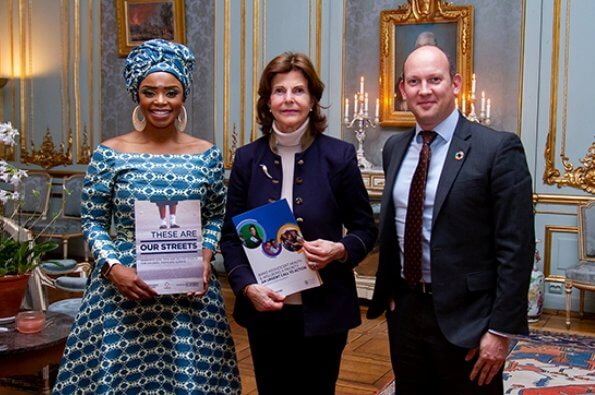 Queen Silvia of Sweden received Child Health Initiative Global Ambassador Zoleka Mandela at the royal palace