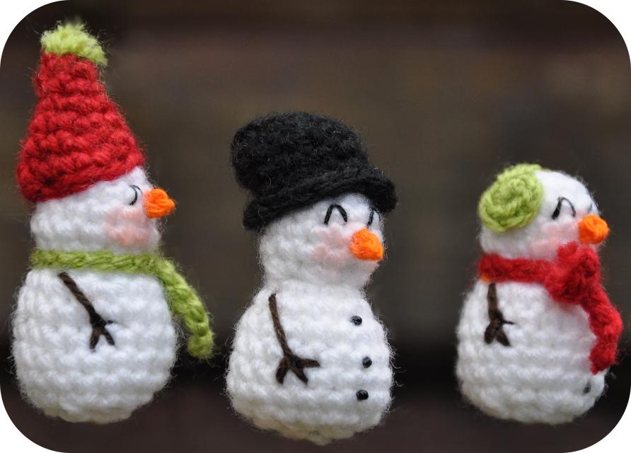 Grietjekarwietjeblogspotcom Haakpatroon Mini Sneeuwpop