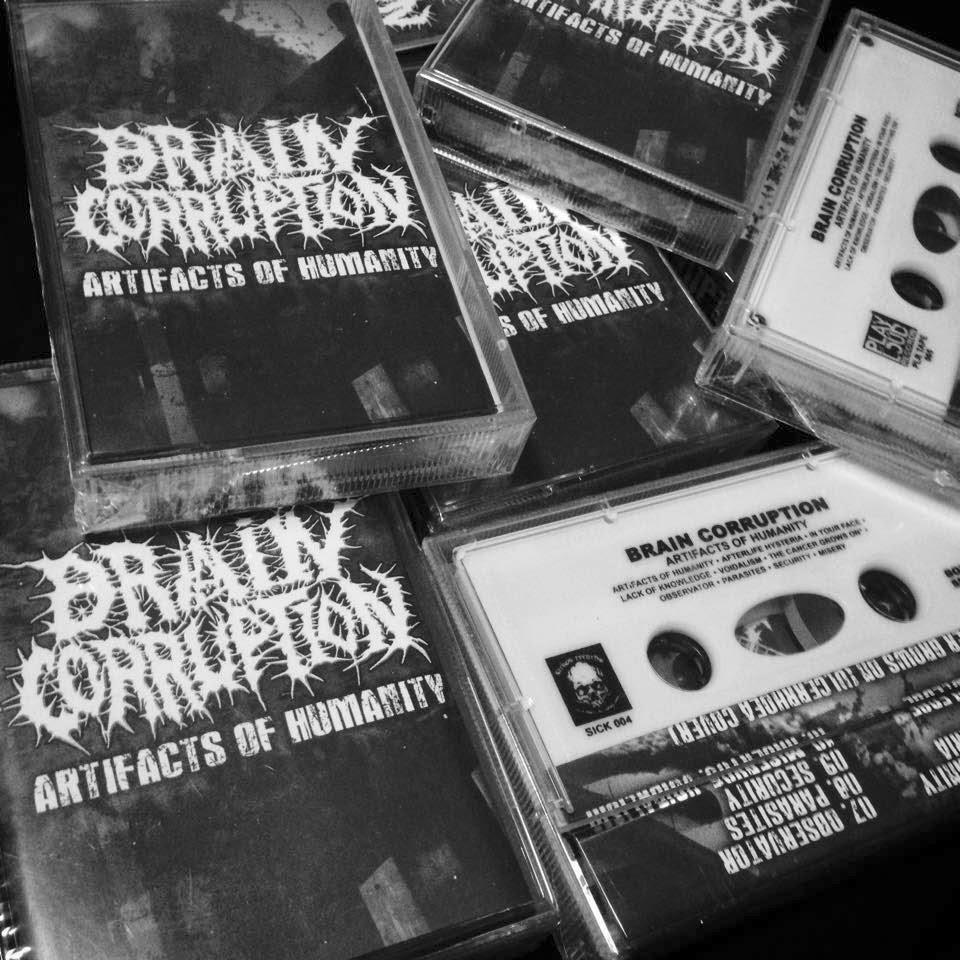 sickos records, brain corruption, cassette, kaset