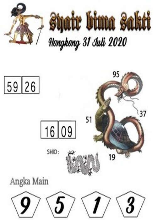 Kode syair Hongkong Jumat 31 Juli 2020 190