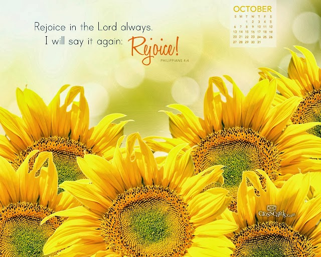October 2013 Bible Verse Calendar Wallpapers