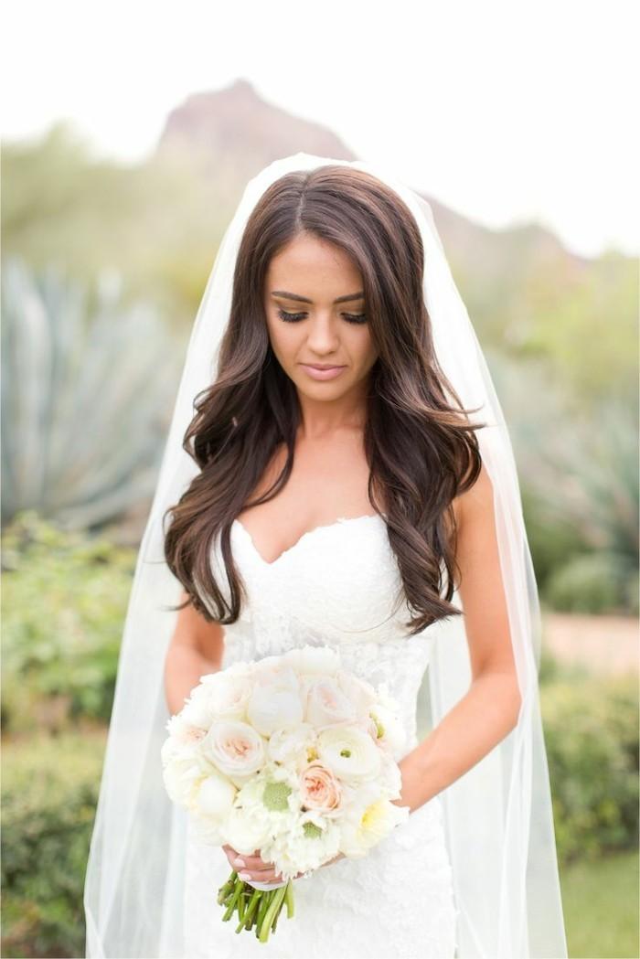 Brautfrisuren Mittellange Haare Mit Schleier Mittellange Haare
