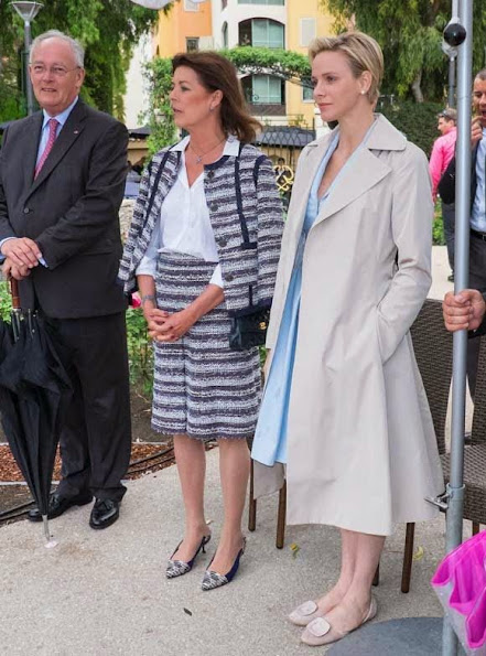Prince Albert, Princess Charlene and Princess Caroline