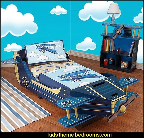 Airplane Toddler Bed-Airplane  Toddler Bedding