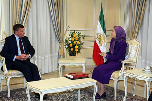ایران-دیدار مریم رجوی با دیوید جونز، نماینده مجلس عوام انگستان در اور سور اواز