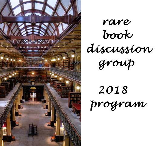 Rare Book Discussion Group : 2018 Program