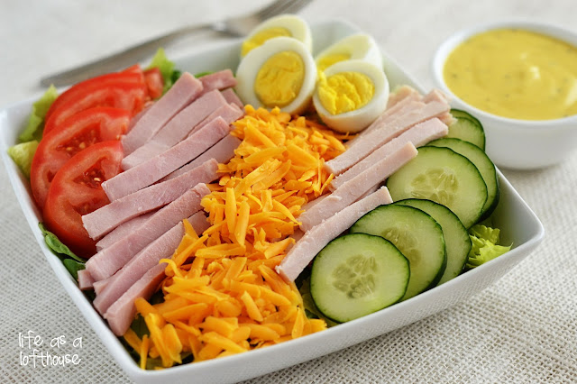A classic Chef Salad with a super easy and delicious honey mustard dressing. Life-in-the-Lofthouse.com