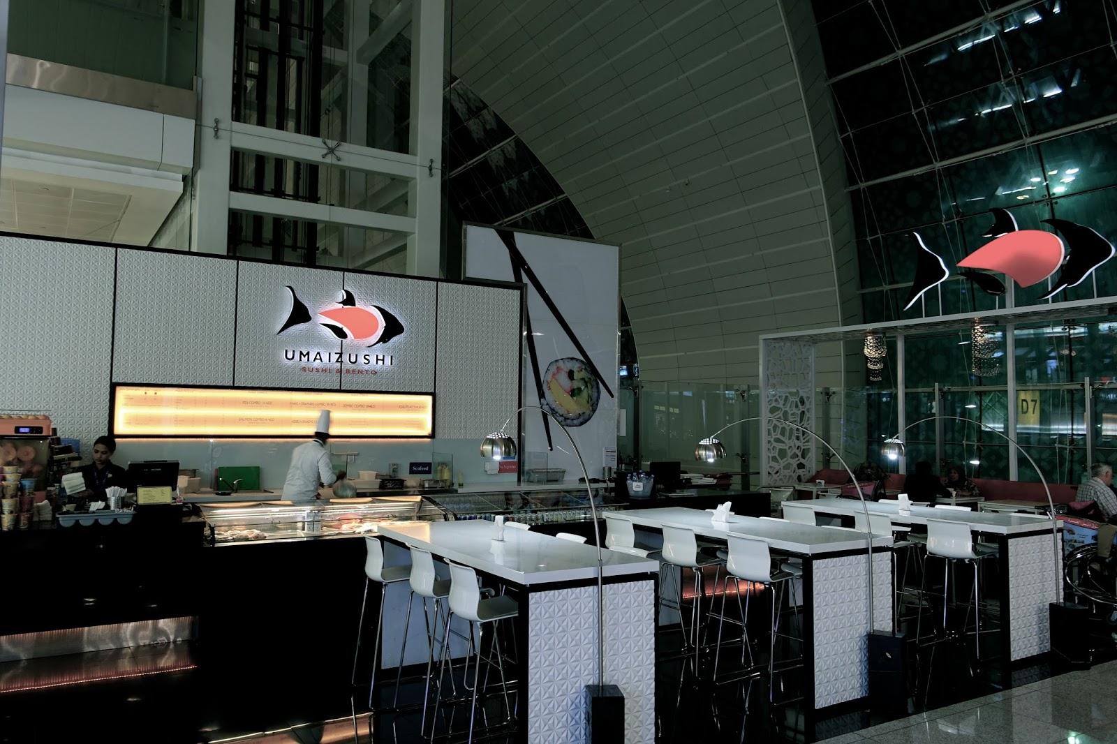 ドバイ国際空港(第3ターミナル)の寿司屋