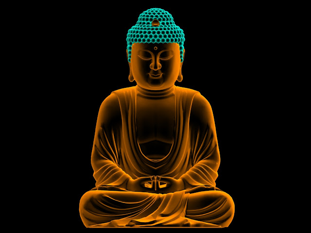 Lord Buddha  wallpaper In Black Background