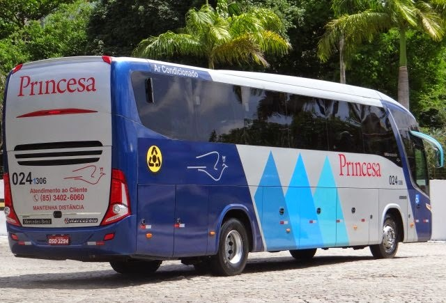 Resultado de imagem para ônibus da princesa na rodoviária de nova russas