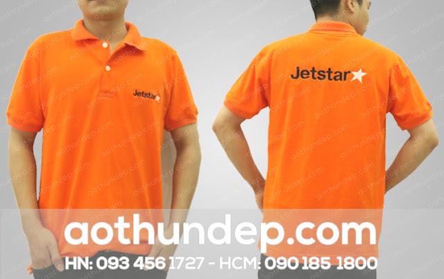 250 Áo Cổ Trụ Màu Cam Hãng Hàng Không JetStar
