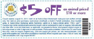photograph regarding Buildabear Coupon Printable titled Establish a undergo printable discount codes 5 off 10 - Ea origin coupon