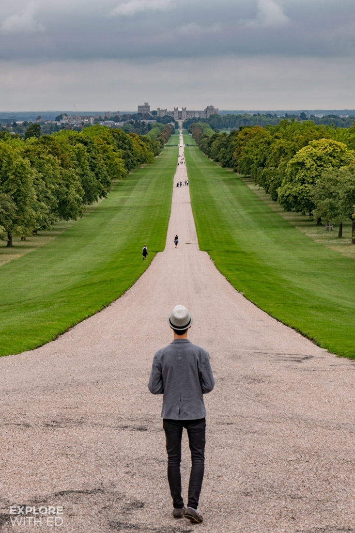 The Long Walk to Windsor Castle from the top