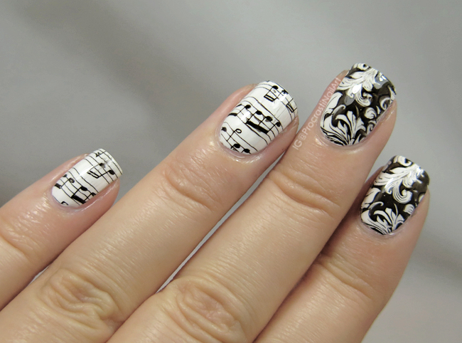 Nail Art The Digit Al Dozen Does Paper Baroque Sheet Music Nails