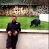 Pantera negra ataca homem distraído em santuário no México, assista o vídeo