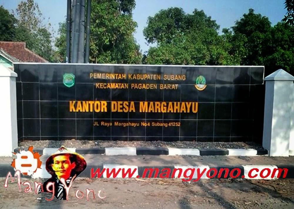Desa Margahayu, Kecamatan Pagaden Barat. Poto jepretan Kang Nugraha Aye-Aye, Facebooker Subang ( FBS )