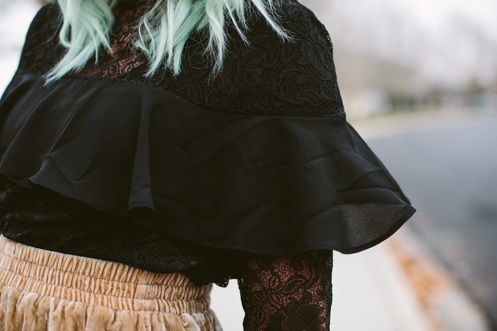 Black Ruffle Top, Lace Top, ASOS top