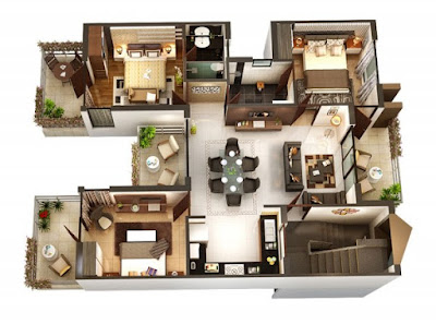Plan for 3 bedroom house