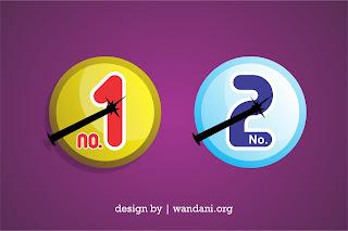 Free Vector : Download Desain Icon Nomor Coblos Pemilihan