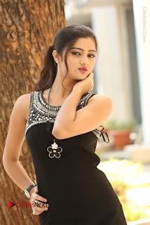 Actress Poojitha Pallavi Naidu Stills in Black Short Dress at Inkenti Nuvve Cheppu Movie Platinum Disc Function  0081.JPG