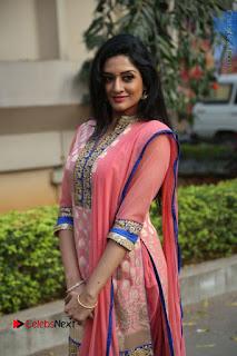 Actress Vimala Raman Stills in Beautiful Pink Salwar Kameez at (ONV) Om Namo Venkatesaya Press Meet  0078.JPG