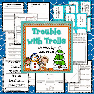 Celebrate winter with this Jan Brett classic. Trouble with Trolls is perfect for the middle grades. Use this bundle for guided reading or as a mentor text. This post includes more information.