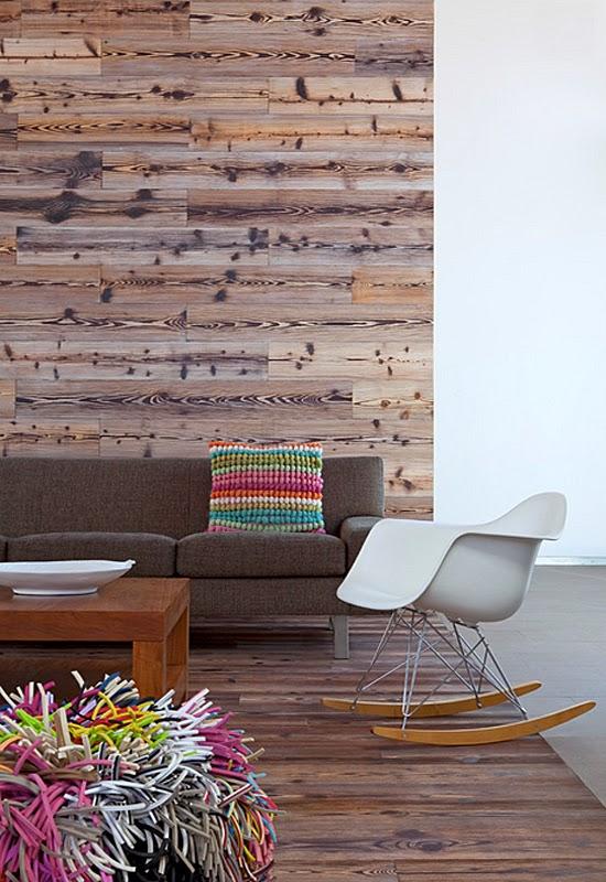 Il parquet anche a parete - Ristrutturazione Low Cost