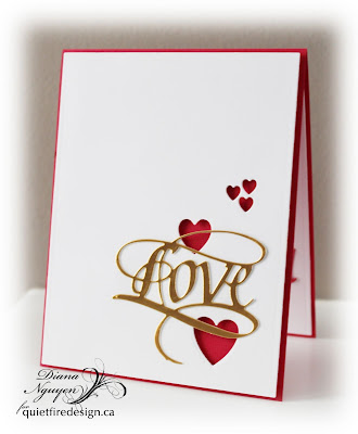 Quietfire Design,  A way with words, Love, Valentine, card, Diana Nguyen