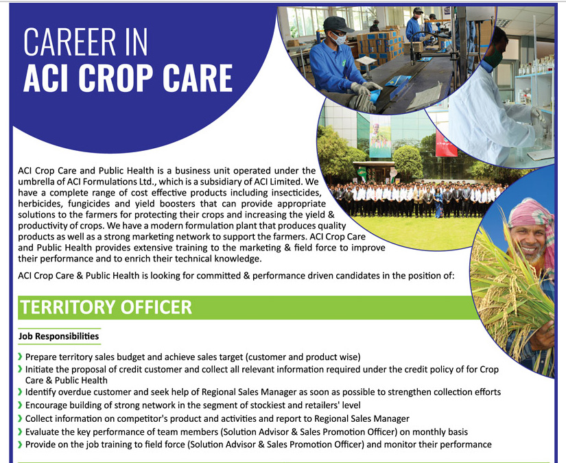 ACI Crop Care & Public Health - Position: Territory Officer