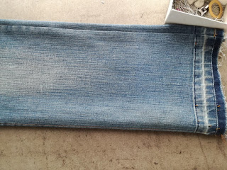 make new length on old jeans craftrebella