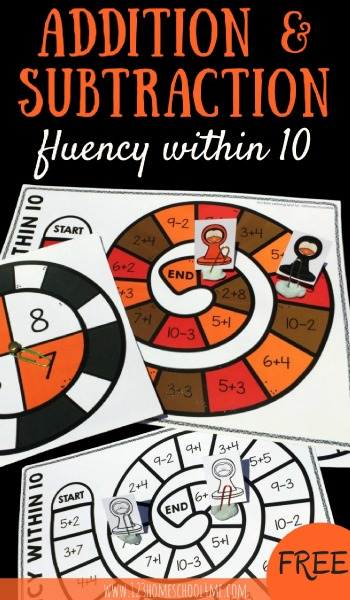 FREE Math Games   Math Fluency within 10
