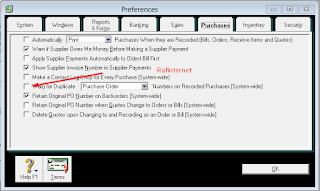 Cara memberikan username dan password pada MYOB
