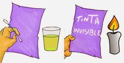 Tinta que pasa de invisible a visible.
