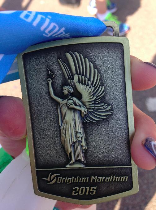 Brighton Marathon 2015 medal - FitBits