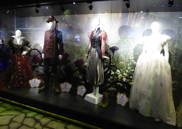 Alice Through the Looking Glass costume display