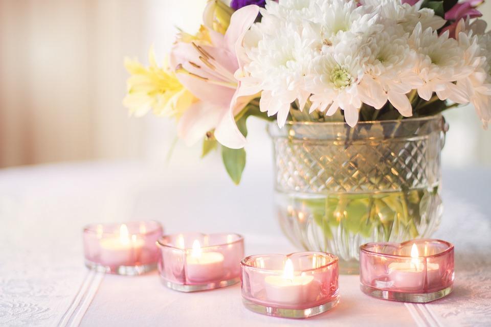fresh flowers in a vase