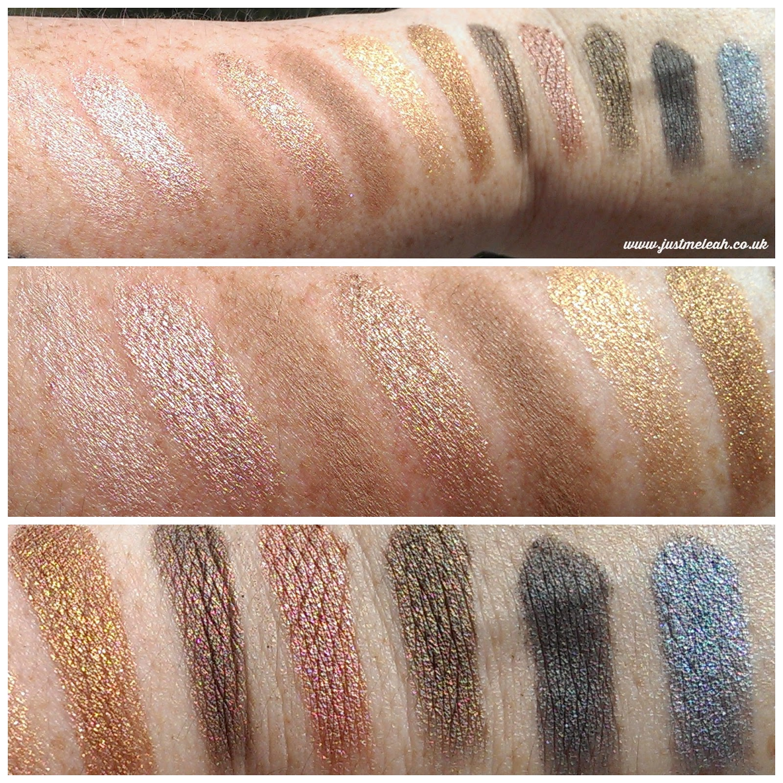 Makeup Revolution Iconic Palette 1 swatches