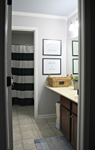 Two room bathroom makeover