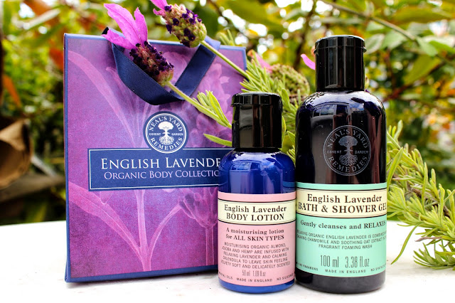 Neal's Yard English Lavender Body Lotion Bath Shower Gel Review Blog Girl Culture