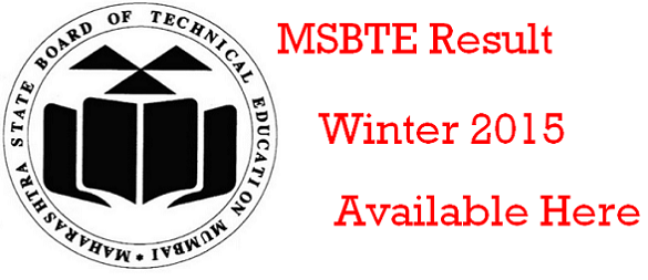 MSBTE Result Winter 2015