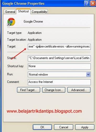chrome error certificate ignore errors nya