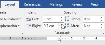 pengaturan indentasi layout paragraph