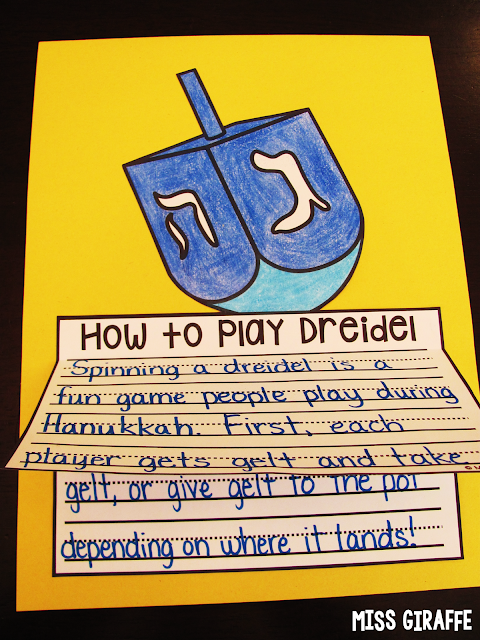 How to play dreidel and other Hanukkah writing craft activities