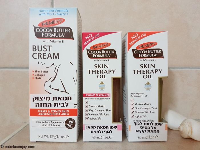 טיפול ומניעת פסי מתיחה עם Palmer's Cocoa butter formula