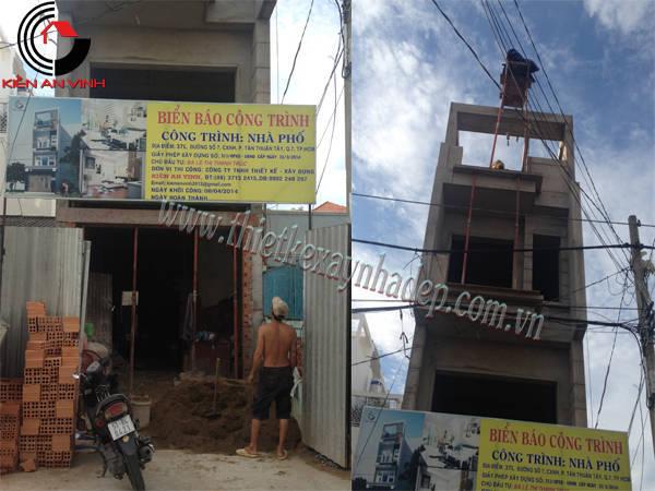 Thi công xây dựng nhà ống 2 tầng 5x15  chị Thủy ở Sóc Trăng Thi-cong-nha-pho-8