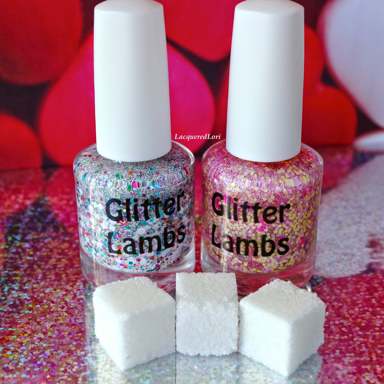 Unicorns Love Sugar Cubes Glitter Topper Indie Nail Polish By Glitter Lambs Swatched by @LacqueredLori