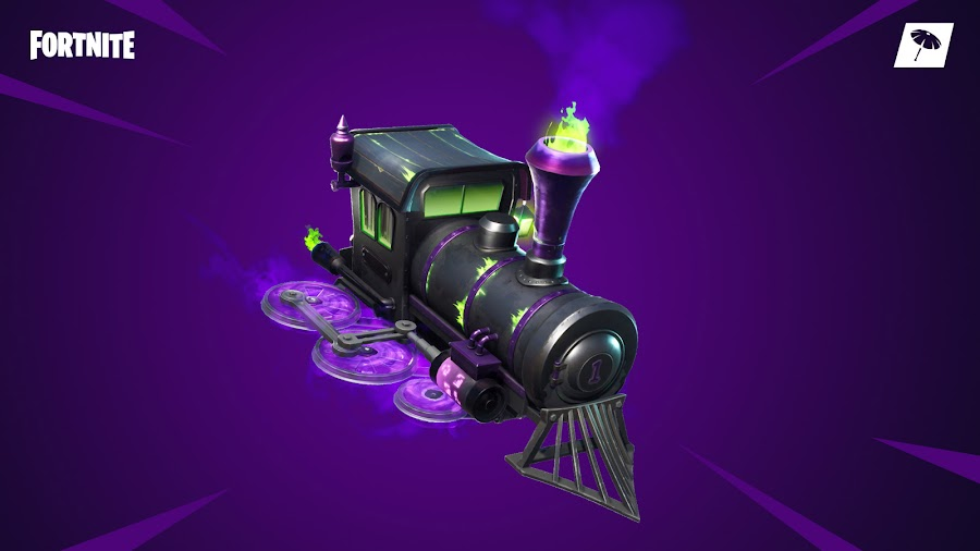 fortnite battle royale halloween event spooky train glider