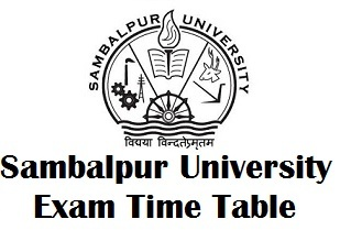 Sambalpur University DDCE Exam Schedule 2018