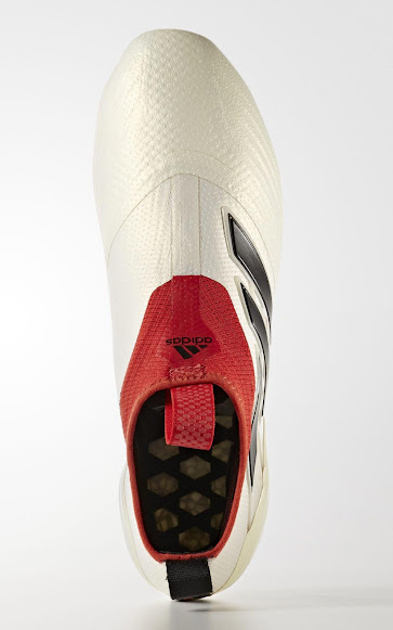 huge selection of 94e81 9ee2a ... Champagne pack, the off-white Adidas Ace 17+ PureControl 2017 football  boots combine the aforementioned base color with black and red accents.